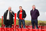 At the Ballyheigue Athletic rally in support of local soccer pitch on Sunday were  John O'Regan, KDL, Mark Woods and Michael Leane, Ballyheigue AFC