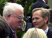 """Washington, DC - April 30, 2003 -- Elizabeth Smart and her parents attend the Rose Garden Ceremony where U.S. President George W. Bush signed the """"Amber Alert"""" Bill, in Washington, DC on April 30, 2003...Credit: Ron Sachs"""