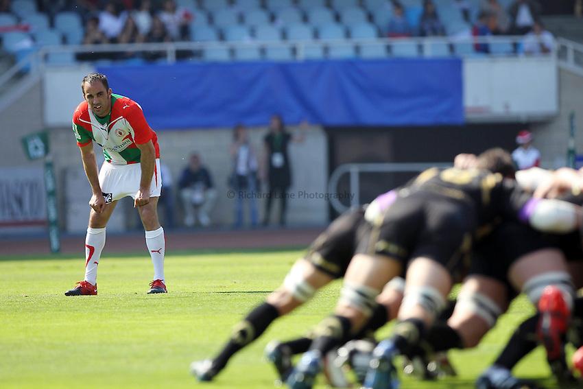 Julien PEYRELONGUE  - 10.04.2010 - Biarritz / Ospreys -  1/4 de finale HCUP - Stade Anoeta - San Sebastian.Photo : Romain Perrocheau / Icon Sport