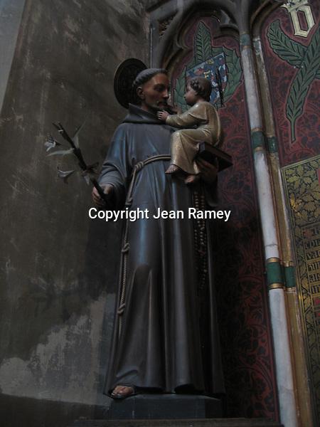 St. Anthony statue - Brugge, Belgium