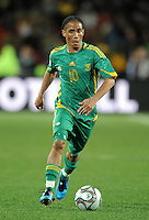 Steven Pienaar of South Africa. Brazil defeated South Africa 1-0 during the semi-finals of the FIFA Confederations Cup at Ellis Park Stadium in Johannesburg, South Africa on June 25, 2009..