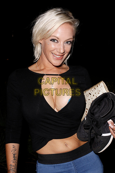 LONDON, ENGLAND - JULY 21 :  LouLou Petite leaves the Back To The Barge UKAP event, at Battersea Barge on July 21, 2017 in London, England.<br /> CAP/AH<br /> &copy;AH/Capital Pictures
