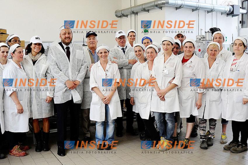 Lodi (Mi) 07/06/2013 <br /> Il segretario del Partito Democratico Guglielmo Epifani in visita agli stabilimenti ICR industrie Cosmetiche Riunite a Lodi <br /> foto Andrea Ninni/Image/Insidefoto