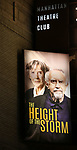 """Broadway Opening Night Theatre Marquee for the MTC  production of  """"The Height Of The Storm"""" starring Eileen Atkins and Jonathan Pryce at Samuel J. Friedman Theatre on September 24, 2019 in New York City."""