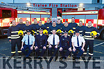 Twelve new fire recruits started training on Monday at Tralee Fire Service. Pictured were: John Fitzgerald (Sub Officer), Maurice O'Connell (Senior Asst. Chief Fire Officer), Michael Hession (Chief Fire Officer), Eoin O'Donnell (Senior Asst. Chief Fire Officer) and Mark Brady (Station Officer). Back l-r were: Anthony Breen, Martin McSweeney, Francis Cunningham, John Rael, Geared Costello, Hedley Jonas, Edward Duggan, Aaron Nolan, Mark Horgan, Paul Sheehan, Johnny Fitzgerald and Michael McCaffrey.