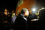 Roland Burris, Illinois Governor Rod Blagojevich's pick to fill Barack Obama's U.S. Senate seat, arrives at the New Covenant Baptist Church ahead of a prayer send-off before his departure to Washington on the South Side of Chicago, Illinois on January 4, 2008.