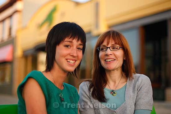 Tina Rice, Brighton Prueger in front of Maaza