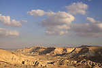 Israel, Northern Negev Mountain, a view of Zin valley.