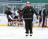 ? - The Northeastern University Huskies practice on the ice at Fenway Park on Thursday, January 7, 2010, in Boston, Massachusetts.