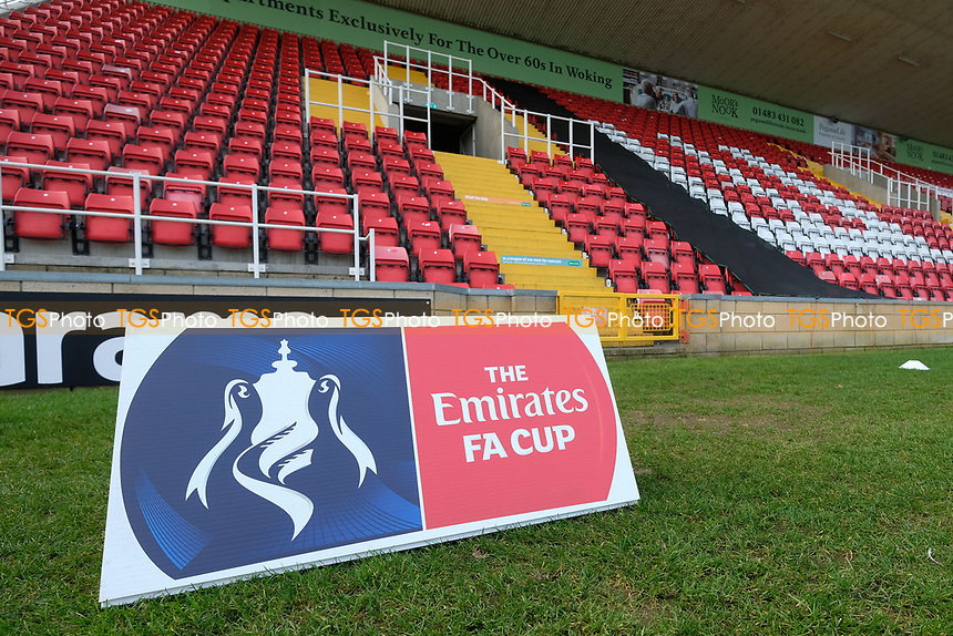 FA Cup sign ahead of Woking vs Watford, Emirates FA Cup Football at The Laithwaite Community Stadium on 6th January 2019