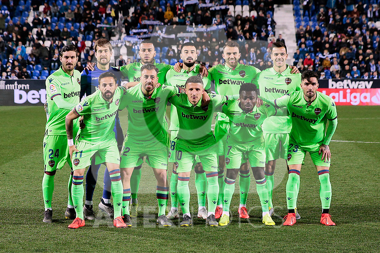Levante UD's team photo during La Liga match between CD Leganes and Levante UD at Butarque Stadium in Leganes, Spain. March 04, 2019. (ALTERPHOTOS/A. Perez Meca)