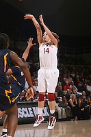 STANFORD, CA - JANUARY 2:  Kayla Pedersen of the Stanford Cardinal during Stanford's 79-58 win over the California Golden Bears on January 2, 2010 at Maples Pavilion in Stanford, California.