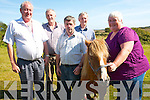 The annual Kerry Bog Pony show and sale will take place on Saturday, September 22nd at the Red Fox Inn in Glenbeigh. .L-R The Kerry Bog Pony Co-Operative Society Sean O'Shea, Ger O'Sullivan, Mossie Pierce, John Mulvihill (PRO) and Anna McCarthy (Vice-Chairperson) with 'Bramble'.