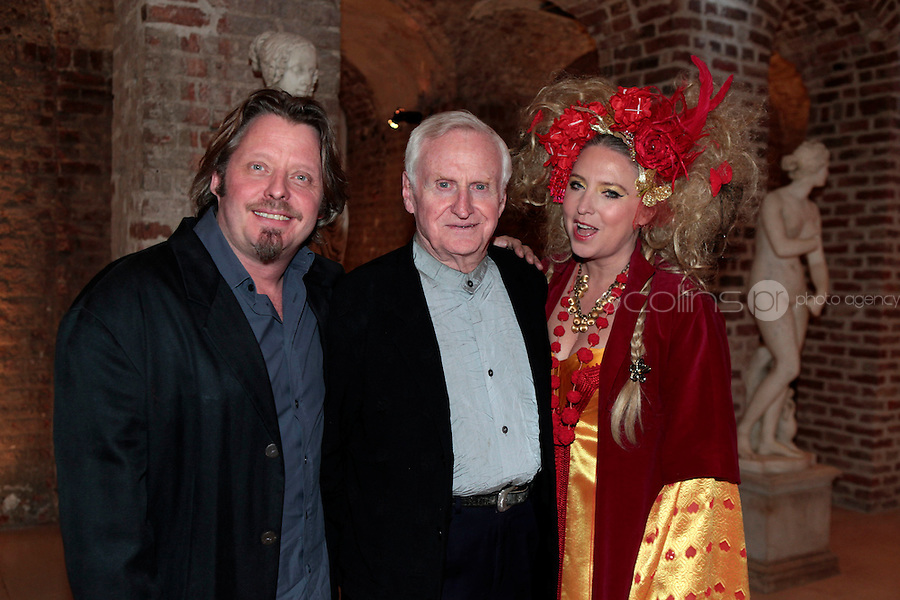 27/1/11 John Boorman with son Charley and daughter Katrine at the 30th Anniversary of Excalibur, raising funds for the launch of the the Warrior Programme Ireland at the Pwerscourt House, Enniskerry, Co Wicklow. Picture: Arthur Carron/Collins