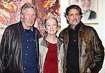 Musician Roger Waters, actress Kathleen Chalfant and actor Chris Sarandon after a performance in 'The Exonerated' at the Culture Project in New York City. November 27, 2012.