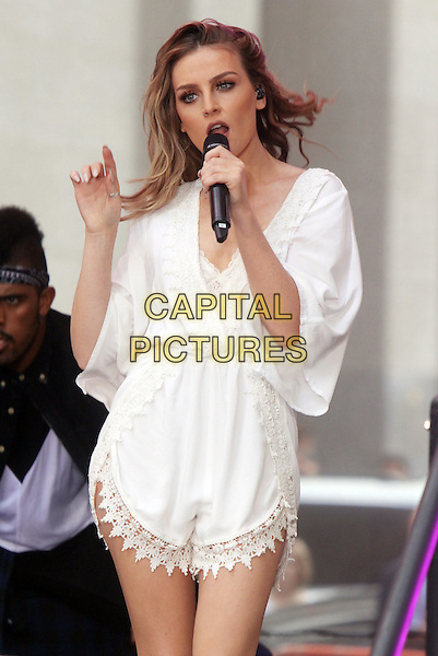 NE WYORK, NY - AUGUST 19: Perrie Edwards of Little Mix pictured on NBC's Today Show Toyota Concert Series in New York City on August 19, 2015. <br /> CAP/MPI/RW<br /> &copy;RW/MPI/Capital Pictures