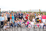 John O'Donoghue cuts the tape to officially open Rossbeigh playground on Sunday   Copyright Kerry's Eye 2008