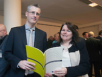 ***NO FEE PIC ***<br /> 23/04/2015<br /> (L to r) Garrett Doocey Department of Transport, Tourism &amp; Sport &amp; Catherine O' Sullivan Department of Transport, Tourism &amp; Sport<br /> during the  launch by the Irish Maritime Development Office (IMDO) of its Irish Maritime Transport Economist report at the Morrison Hotel , Dublin.<br /> Photo:  Gareth Chaney Collins