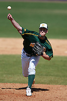 March 14, 2010:  Pitcher Luke Anderson (35) of North Dakota State University Bison vs. Akron University at Chain of Lakes Park in Winter Haven, FL.  Photo By Mike Janes/Four Seam Images