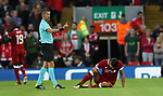 Emre Can of Liverpool injury during the Champions League playoff round at the Anfield Stadium, Liverpool. Picture date 23rd August 2017. Picture credit should read: Lynne Cameron/Sportimage