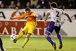 FC Barcelona's Alexis Sanchez (l) and Deportivo Alaves' Oscar Rubio during Spanish King's Cup match.October 30,2012. (ALTERPHOTOS/Acero)