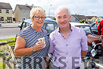 Carol Noonan and Dave Noonan from Ballyhahill, Glin at the Ballybunion Vintage rally on Sunday.