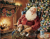 Dona Gelsinger, CHRISTMAS SANTA, SNOWMAN, classical, paintings, santa, sleeping(USGE0101,#X#) Weihnachtsmänner, Papá Noel, Weihnachten, Navidad, illustrations, pinturas klassisch, clásico