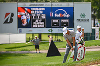 Thorbjorn Olesen (DEN) chips on to 9 during 1st round of the World Golf Championships - Bridgestone Invitational, at the Firestone Country Club, Akron, Ohio. 8/2/2018.<br /> Picture: Golffile | Ken Murray<br /> <br /> <br /> All photo usage must carry mandatory copyright credit (&copy; Golffile | Ken Murray)