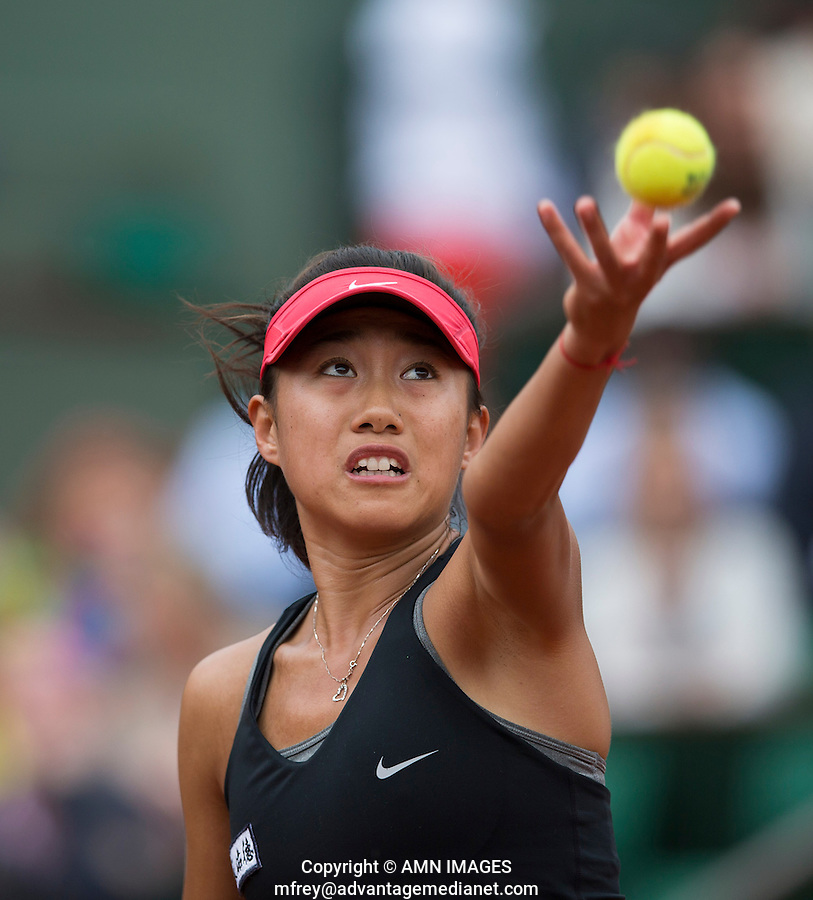 SHUAI ZHANG (CHN)<br /> <br /> Tennis - French Open 2014 -  Toland Garros - Paris -  ATP-WTA - ITF - 2014  - France -  25 May 2014. <br /> <br /> &copy; AMN IMAGES