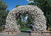 Antler Arch in the town center in Jackson Hole, Wyoming