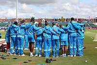 The West Indies team gather their thoughts together before  the warm up fixture between West Indies vs New Zealand, ICC World Cup Warm-Up Match Cricket at the Bristol County Ground on 28th May 2019