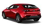 Car pictures of rear three quarter view of a 2019 Mazda Mazda-3 Style 5 Door Hatchback angular rear