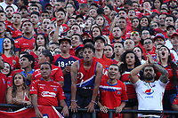 MEDELLÍN- COLOMBIA, 16-12-2018.Hinchas del Independiente Medellín durante el encuentro entre los equipos Independiente Medellín y el Atlético Junior   partido por la final  de la Liga Águila II 2018 jugado en el Estadio Atanasio Girardot de la ciudad de Medellín. / Fans of  Independiente Medellin during match agaisnt of  Atletico Junior  during the final  match of the Liga Águila II 2018 played at the Atanasio Girardot Stadium in the city of Medellín. . Photo: VizzorImage / Felipe Caicedo / Staff