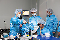 Scientists at Soam Biotech in South Korea carry out the cloning process in Seoul, South Korea. The technique involves taking a single skin cell from the original animal and replicating its DNA to create a man-made embryo, which is born after two months' gestation.The South Korean company is expert at cloning dogs. The company says it has cloned at least 400 dogs around the world, including rescue and police dogs for the South Korean government and dozens of pets for wealthy American owners. <br /> <br /> Photo by Jae-hyun Kim / Sinopix