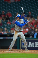 Ryan Johnson (28) of the Kentucky Wildcats at bat against the Houston Cougars in game two of the 2018 Shriners Hospitals for Children College Classic at Minute Maid Park on March 2, 2018 in Houston, Texas.  The Wildcats defeated the Cougars 14-2 in 7 innings.   (Brian Westerholt/Four Seam Images)