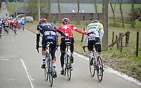 IAM a helping hand<br /> <br /> Omloop Het Nieuwsblad 2015