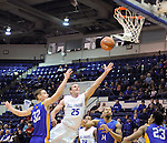 January 2, 2016 - Colorado Springs, Colorado, U.S. -  Air Force forward, Kyle Broekhuis #25, drives for a layup during an NCAA basketball game between the San Jose State Spartans and the Air Force Academy Falcons at Clune Arena, U.S. Air Force Academy, Colorado Springs, Colorado.  Air Force defeats San Jose State 64-57.