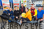 Nolan's Londis North Circular Road, launch their Row for Rescue on Monday which will be held on Saturday October 5th for the fundraiser for Banna Sea Rescue and Kerry Mountain Rescue.<br /> Julie Conway ready to row with l to r: Niall Nolan, Maureen Greaney, Mike Slattery (Kerry Mountain Rescue), Frank O'Brien (Banna Sea Rescue) and Vincent Lynch,