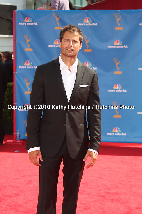 LOS ANGELES - AUG 29:  David Charvet arrives at the 2010 Emmy Awards at Nokia Theater at LA Live on August 29, 2010 in Los Angeles, CA