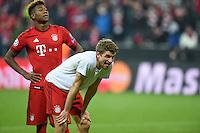 FUSSBALL CHAMPIONS LEAGUE  SAISON 2015/2016 ACHTELFINALE RUECKSPIEL FC Bayern Muenchen  - Juventus Turin      16.03.2016 Thomas Mueller (FC Bayern Muenchen) freut sich nach dem Abpfiff