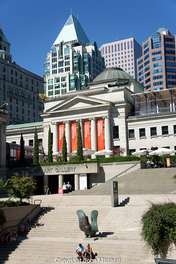 The Vancouver Art Gallery building from Robson Square, Vancouver, BC, Canada
