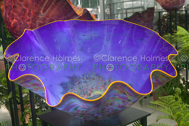 The artwork of glass artisan Dale Chihuly on display at the New York Botanical Garden in 2006.