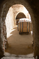 barrel aging cellar mas du notaire rhone france