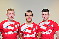 Picture by Simon Wilkinson/SWpix.com - 02/07/2012 - International Rugby League, St Helens players  Luke Thompson Dominic Speakman and Mark Percival of The England Academy Touring party to Australia 2012 headshots - copyright picture.. simon wilkinson.. simon@swpix.com ..07811 267 706