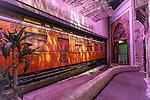 Nederland, Utrecht,  06-08-2015, spoorwegmuseum, exterieurs, interieurs, spoor, wagon, kiosk<br /> foto Michael Kooren/Koorenphoto.nl