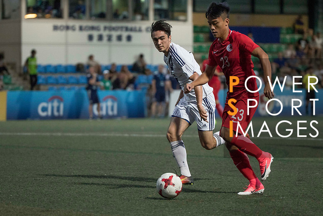 HKFA Red Dragons (in red) vs HKFC (in white), during their Main Tournament match, part of the HKFC Citi Soccer Sevens 2017 on 27 May 2017 at the Hong Kong Football Club, Hong Kong, China. Photo by Chris Wong / Power Sport Images