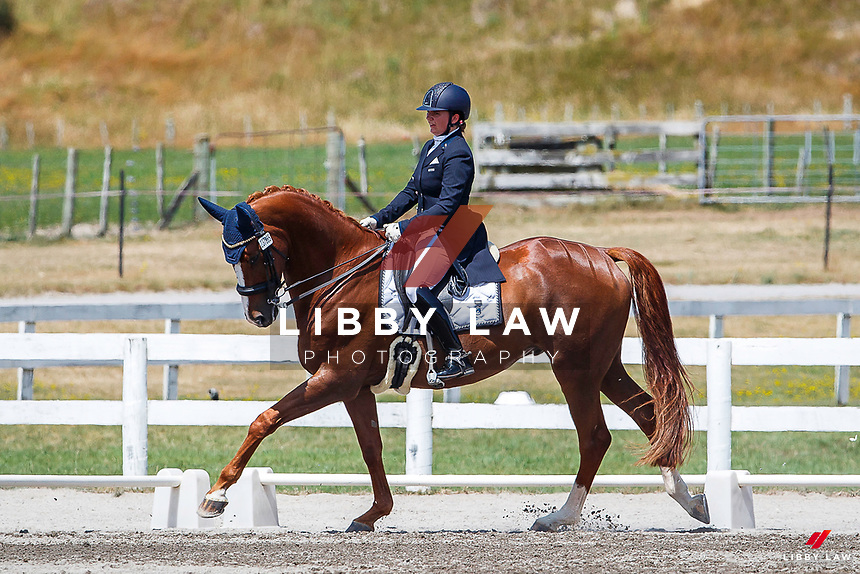 NZL-Lucarne Dolley rides Ardmore. Final-1st. Class 902 Equissage NZ Young Rider/U25 - FEI Under 25 Grand Prix (Q). 2020 NZL-Equestrian Entries NZ Youth Dressage Festival. Sunday 26 January. Copyright Photo: Libby Law Photography