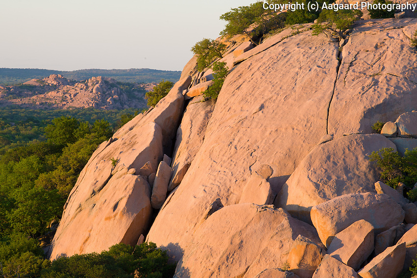 This side of Enchanted Rock is a favorite haunt of rock climbers, for obvious reasons.<br /> <br /> Canon EOS 5D, 70-200 f/2.8L lens