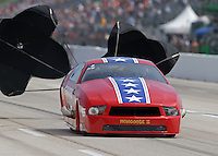 Apr. 26, 2013; Baytown, TX, USA: NHRA pro mod driver Steve Matusak during qualifying for the Spring Nationals at Royal Purple Raceway. Mandatory Credit: Mark J. Rebilas-