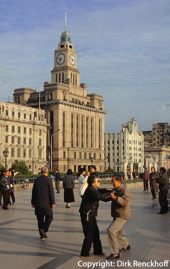 China, Shanghai, Tanzunterricht am Bund